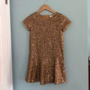 Gap kids gold sequined dress